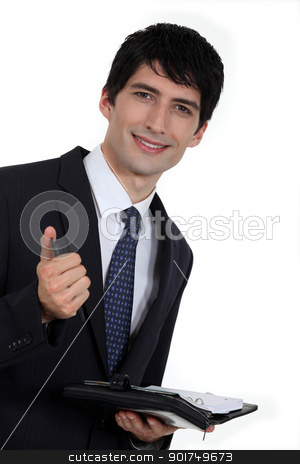 Businessman with diary stock photo, Businessman with diary by photography33