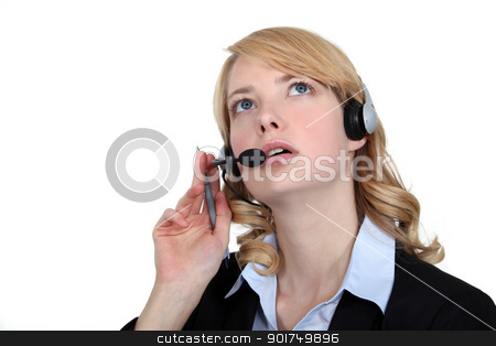 Telephone operator stock photo, Telephone operator by photography33