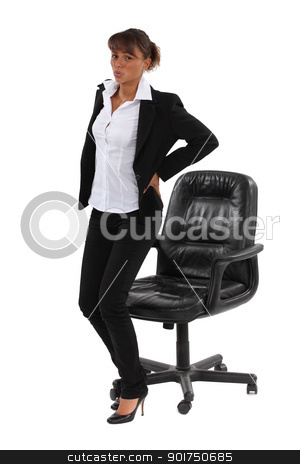 Businesswoman sat down for too long stock photo, Businesswoman sat down for too long by photography33