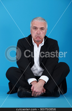 Glum businessman stock photo, Glum businessman by photography33