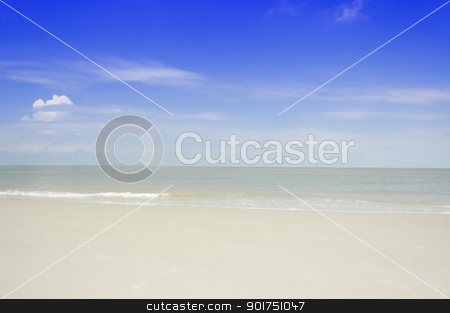 Tropical beach  stock photo, Beautiful Tropical beach background, with blue sky.  by szefei