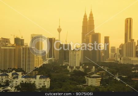 Kuala Lumpur  stock photo, Kuala Lumpur city at dusk, Malaysia   by szefei