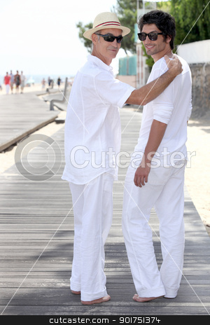 Father and son stock photo, Father and son by photography33