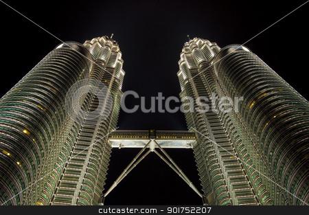 Kuala Lumpur, Malaysia  stock photo, Night views of Landmark Petronas Twins Towers, Kuala Lumpur, Malaysia  by szefei