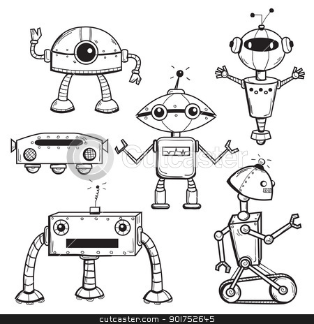 Robots collection stock photo, Robots collection, vector illustration by kariiika