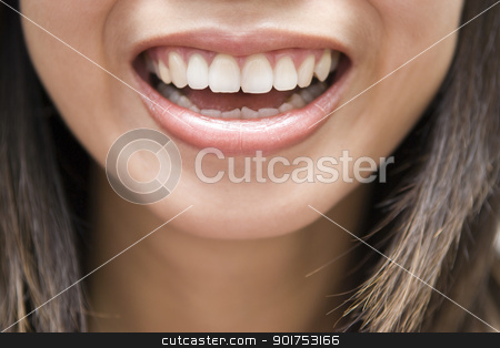 Delight  stock photo, Close up Asian female smiling by szefei