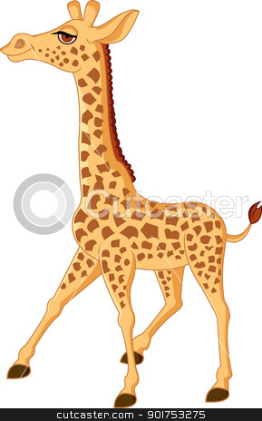 Giraffe cartoon  stock vector clipart, Vector Illustration Of Giraffe cartoon  by Surya Zaidan