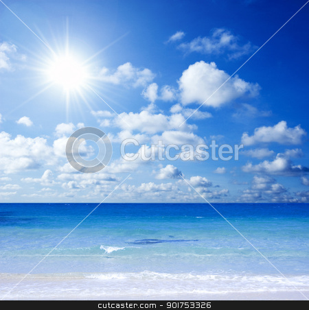 Tropical beach  stock photo, Beautiful Tropical beach with sunlight.  by szefei
