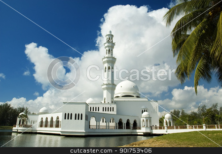 Floating mosque stock photo, Floating mosque at Terengganu, Malaysia   by szefei