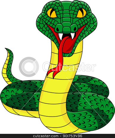 Angry snake  stock vector clipart, Vector Illustration Of Angry snake  by Surya Zaidan