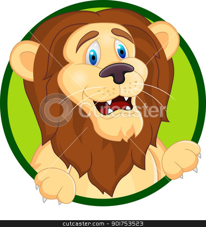 Funny lion cartoon  stock vector clipart, Vector Illustration Of Funny lion cartoon  by Surya Zaidan
