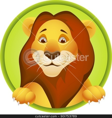 Lion cartoon  stock vector clipart, Vector Illustration Of Lion cartoon  by Surya Zaidan