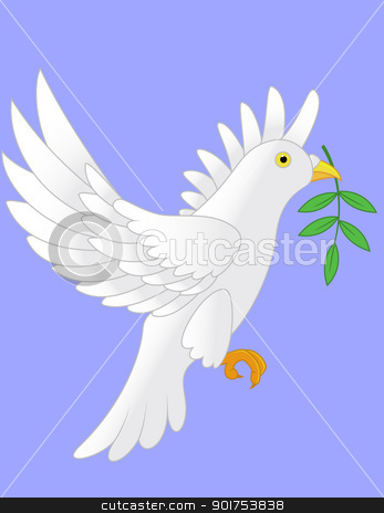 Dove vector  stock vector clipart, Vector Illustration Of Dove vector  by Surya Zaidan