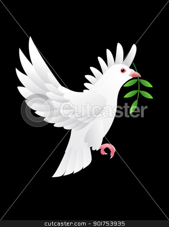 Dove vector  stock vector clipart, Vector Illustration Of  by Surya Zaidan