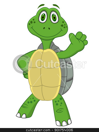 Turtle cartoon  stock vector clipart, Vector Illustration Of Turtle cartoon  by Surya Zaidan