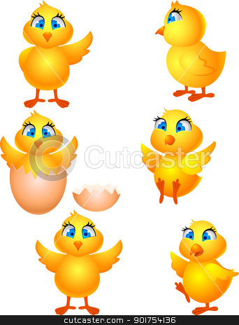 Little chicken  stock vector clipart, Vector Illustration Of Little chicken  by Surya Zaidan
