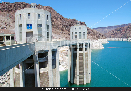 Hoover Dam stock photo, Hoover Dam in Nevada, USA   by perlphoto