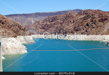 Lake Mead  stock photo, Blue Lake Mead in Nevada, USA by perlphoto