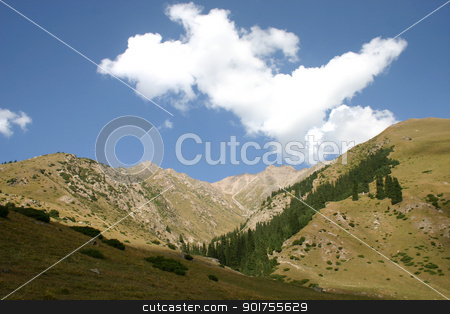 Mountains. The sky. Clouds. stock photo, Travel on mountains and rivers of Kyrgyzstan. by Yury Ponomarev