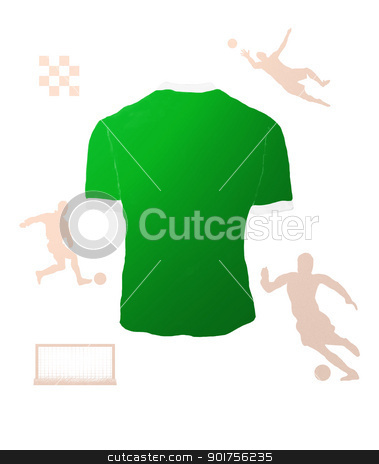 Football stock photo, Football T-Shirt And Players by Rahul Kumar