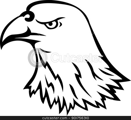 Eagle head tattoo  stock vector clipart, Vector Illustration Of Eagle head tattoo  by Surya Zaidan