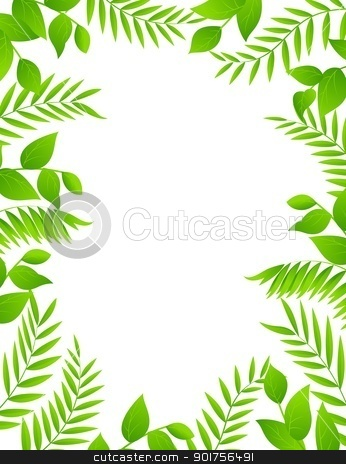 Floral frame background  stock vector clipart, Vector Illustration Of Floral frame background  by Surya Zaidan