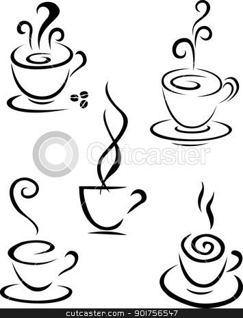 Coffee symbol collection  stock vector clipart, Vector Illustration Of Coffee symbol collection  by Surya Zaidan