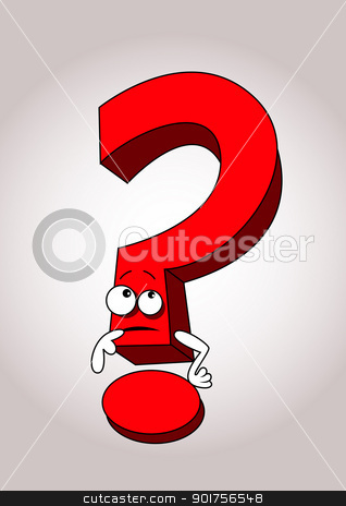 Question mark cartoon  stock vector clipart, Vector Illustration Of Question mark cartoon  by Surya Zaidan