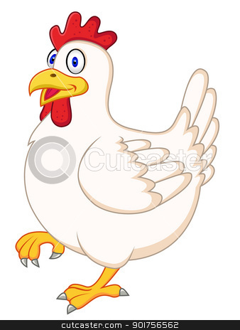 Hen cartoon  stock vector clipart, Vector Illustration Of Hen cartoon  by Surya Zaidan