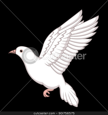 Flying dove  stock vector clipart, Vector Illustration Of Flying dove  by Surya Zaidan