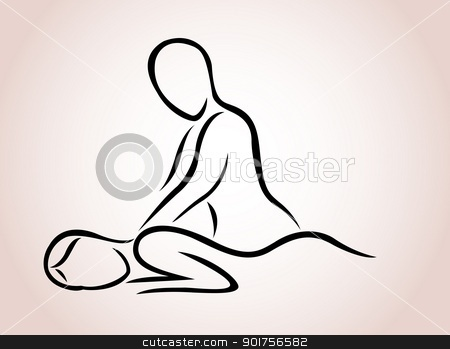 Massage sign  stock vector clipart, Vector Illustration Of Massage sign  by Surya Zaidan