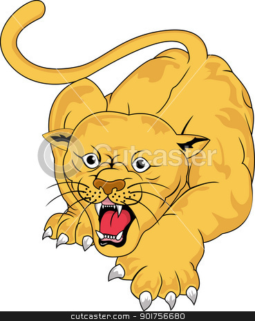 Angry cougar  stock vector clipart, Vector Illustration Of Angry cougar  by Surya Zaidan