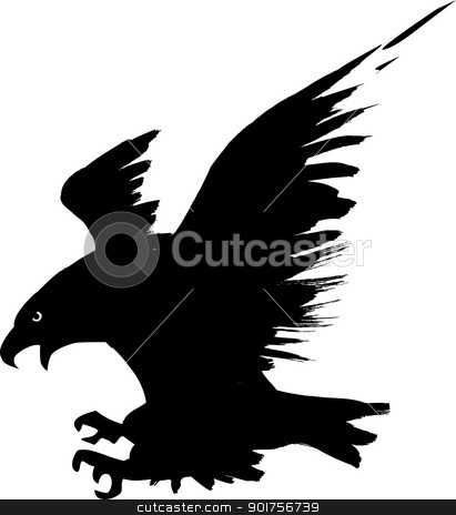 Eagle flying  stock vector clipart, Vector Illustration Of Eagle flying  by Surya Zaidan