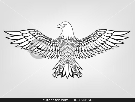Eagle mascot  stock vector clipart, Vector Illustration Of Eagle mascot  by Surya Zaidan