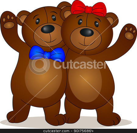 Bear doll cartoon  stock vector clipart, Vector Illustration Of  Bear doll cartoon  by Surya Zaidan