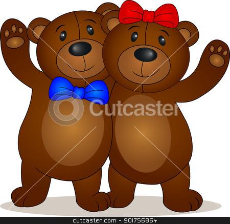 Bear doll cartoon  stock vector clipart, Vector Illustration Of  Bear doll cartoon  by Surya Zaidan