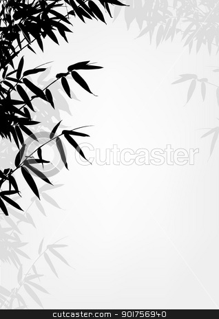 Bamboo tree silhouette background  stock vector clipart, Vector Illustration Of Bamboo tree silhouette background  by Surya Zaidan