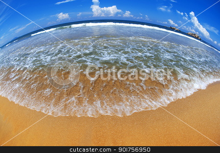 Beautiful Earth  stock photo, Beach at fisheye view   by szefei