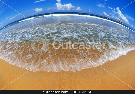Beautiful Earth  stock photo, Beach at fisheye view   by szefei