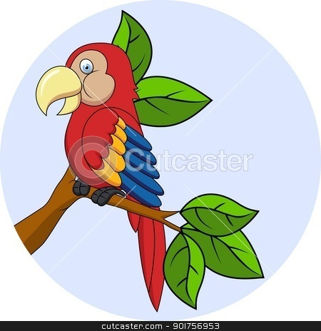 Macaw cartoon  stock vector clipart, Vector Illustration Of Macaw cartoon  by Surya Zaidan