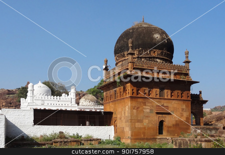 mosque of Tipu Sultan stock photo, the mosque of Tipu Sultan near Badami in India by prill