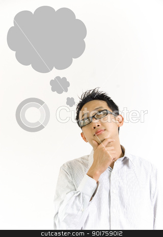 thought balloon  stock photo, thought balloon  by szefei