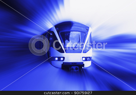 moving train stock photo, moving train by szefei