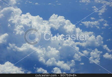 Clouds stock photo, above the sky by szefei