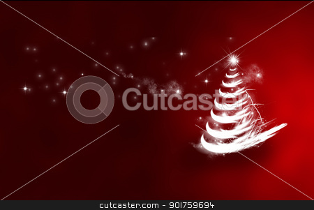 red christmas tree stock photo, red christmas tree, christmas is a festival of people around the world has been waiting. by audfriday13