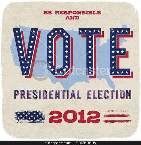 Presidential election 2012. Vector, eps10. stock photo, Presidential election 2012. Vector, eps10. by pashabo