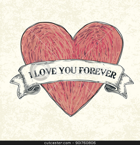 I love you forever. Vector illustration, eps10 stock photo, I love you forever. Vector illustration, eps10 by pashabo