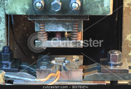 Die (manufacturing) stock photo, Close up  Die (manufacturing) in  japan by yoshiyayo