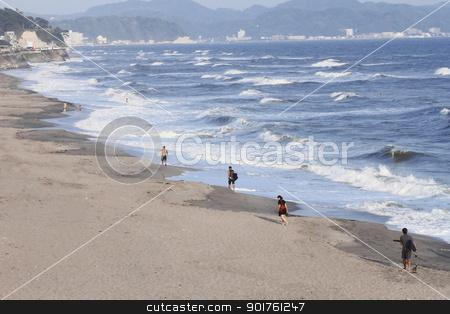 Seaside resort in Kamakura,Kanagawa stock photo, Blue  sky and  Seaside resort in Kamakura,Kanagawa by yoshiyayo