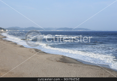 Seaside resort in Kamakura,Kanagawa stock photo, Blue  sky and  Seaside resort in Kamakura,Kanagawa by yoshiyayo